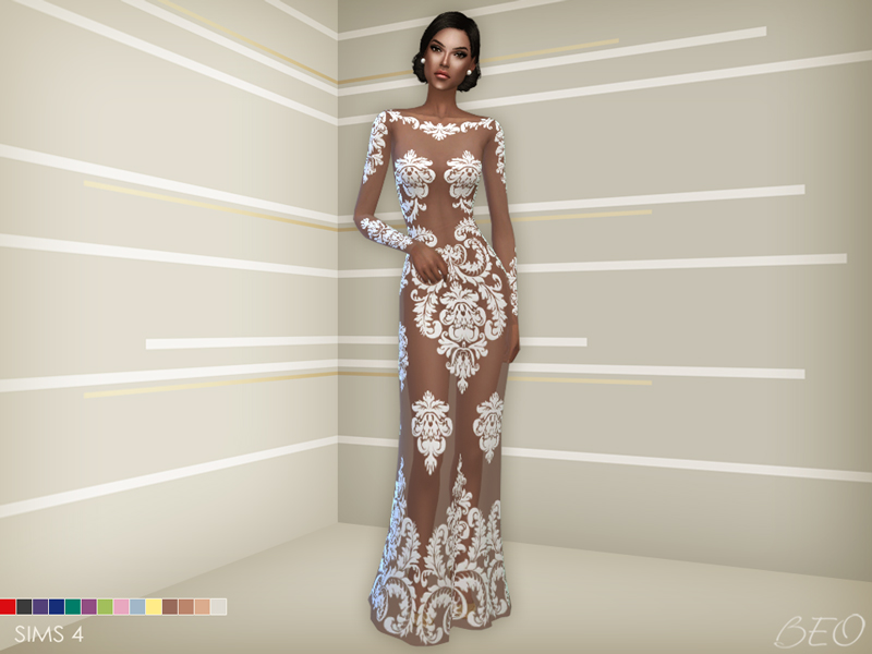 Anveay dress for The Sims 4 by BEO (2)